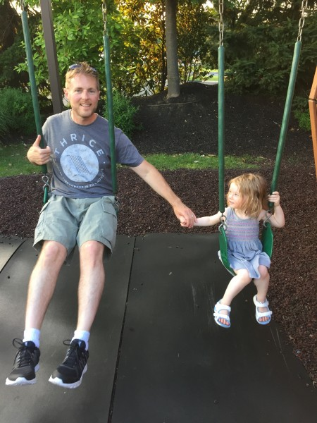 Pirate ship park with dad 2