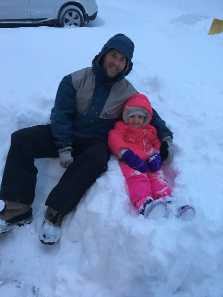 Snow day with dad