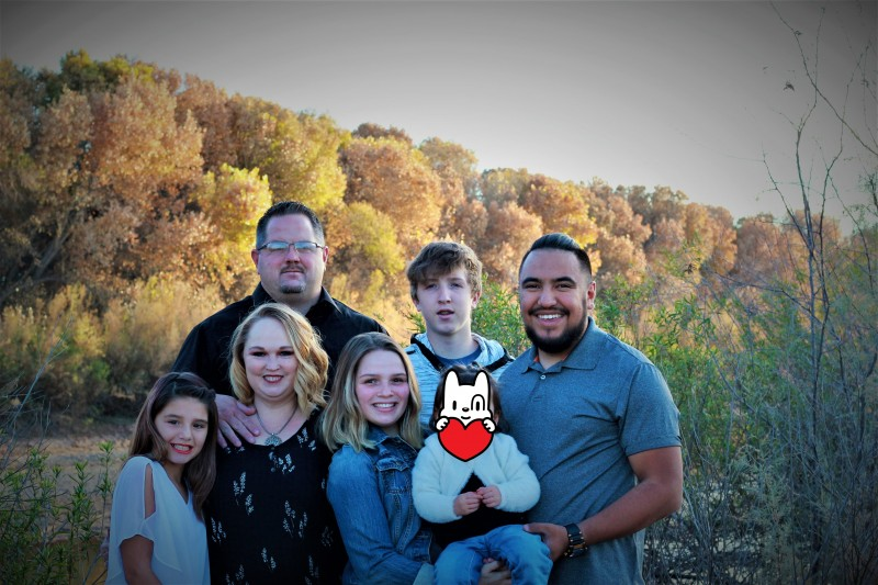 Family Pictures (had to block out face of baby, not ours)