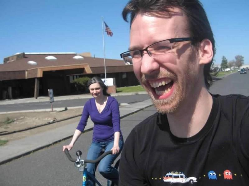 Riding bikes!