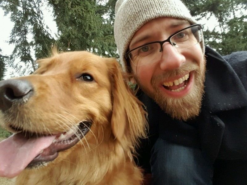 Eric and Chewie at the park.