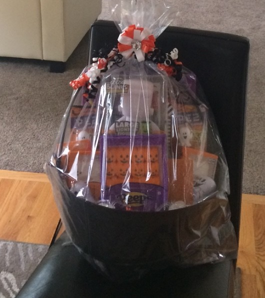 Halloween basket for our neighbor