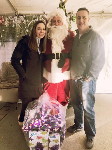 We loved being Santa's helpers