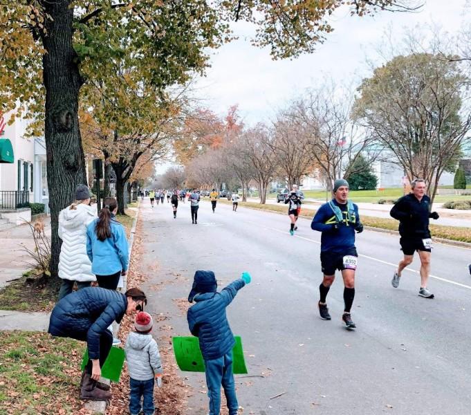 Nephews at the marathon