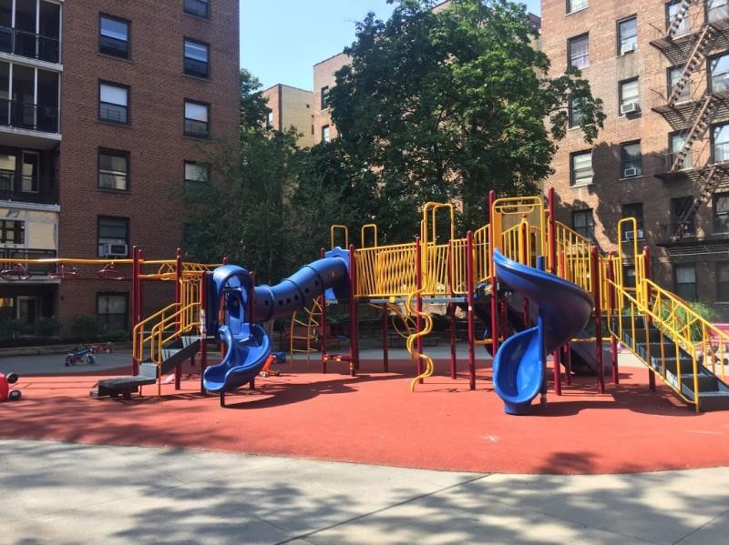 Playground across the street