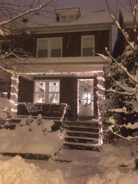 Christmas exterior house