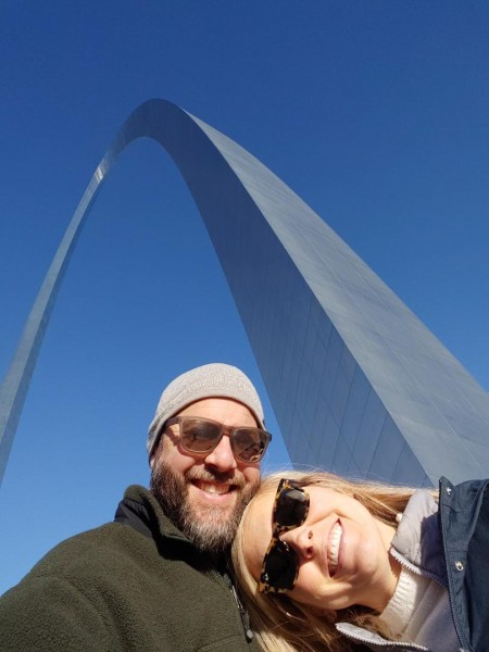 At the arch in st louis