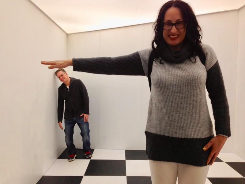 At The MC Escher Exhibit