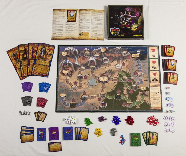 Reed's original and self produced board game - Heroes of Ismia