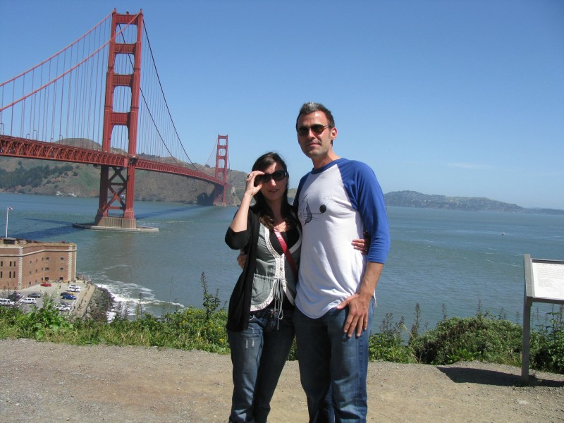 Dassance and Reed in San Francisco (one week into dating!)