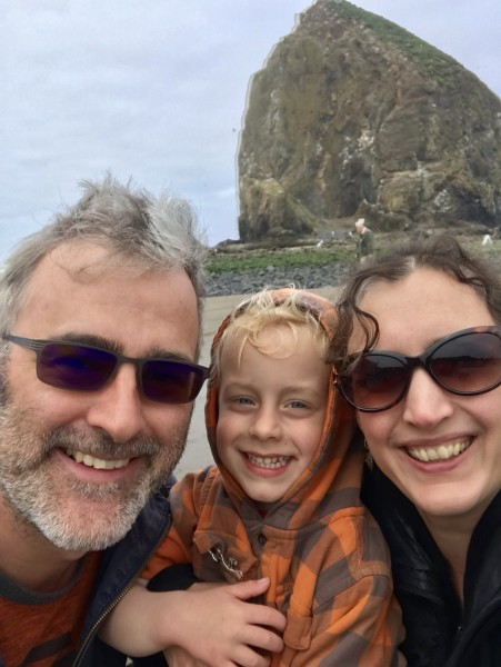 Us three at Cannon Beach, OR