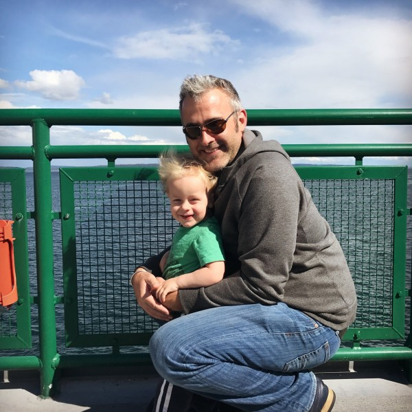 Odin and Reed on the Puget Sound Ferry