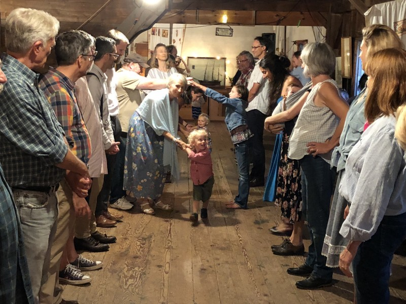 The annual family square dance in New York - don't knock it, it is super fun!