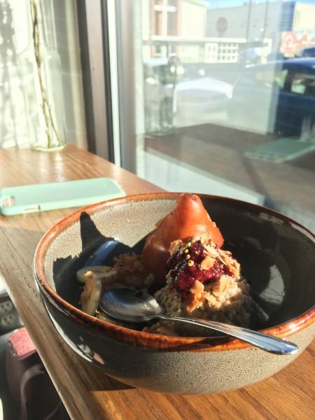 Pear quinoa porridge for breakfast this morning!