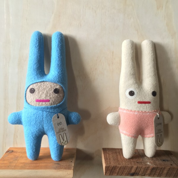 "We just got these cute ""Funny Bunnies"" which are hand-made by friends of ours for our future little one."