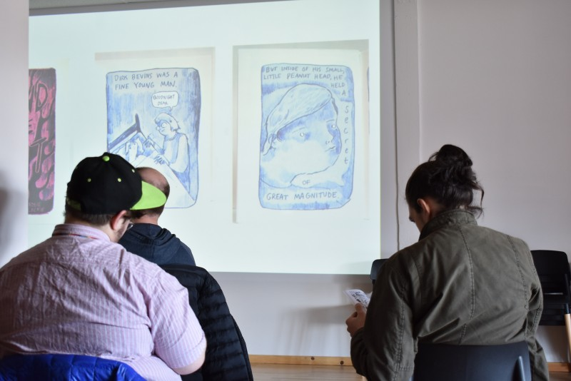 We hosted a workshop on DIY comic books and zines!
