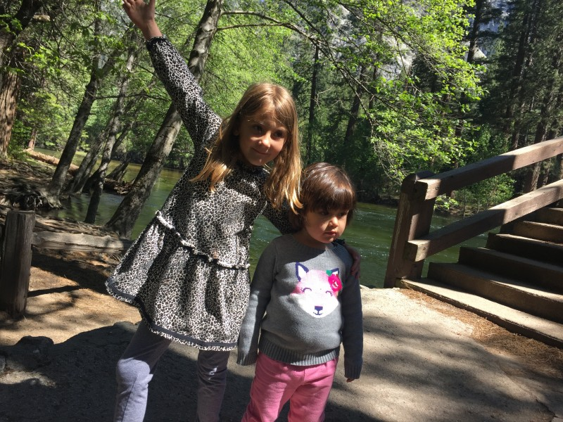 Family hike in Yosemite. These two have a blast together. Jane lives in Oakland with her family and we see them several times a year.