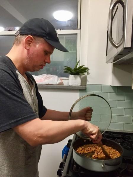 Joe loves cooking