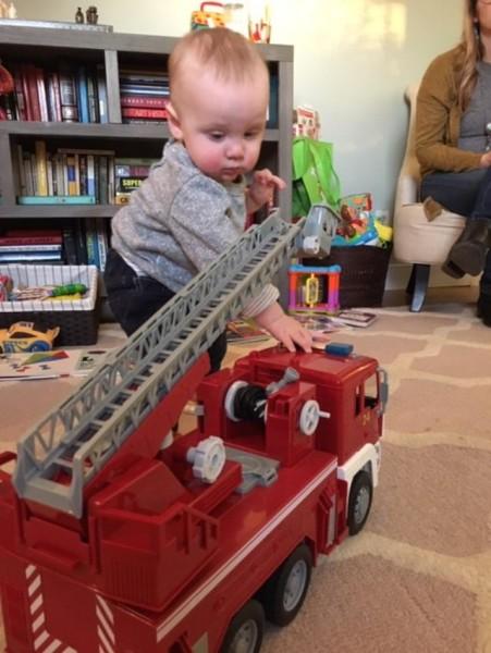 Hendrix, future fireman!
