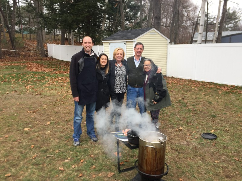 Turkey Fry with our families