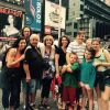 Times Square with Brian's parents, sister, bro-in-law, nieces and nephews