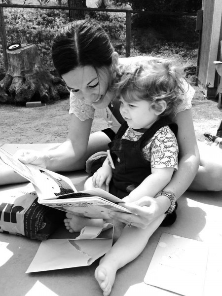Aunt Laura reading to Eliot (San Diego, CA)