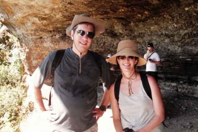Christiani with her brother (Uncle) Mike during a cave hike