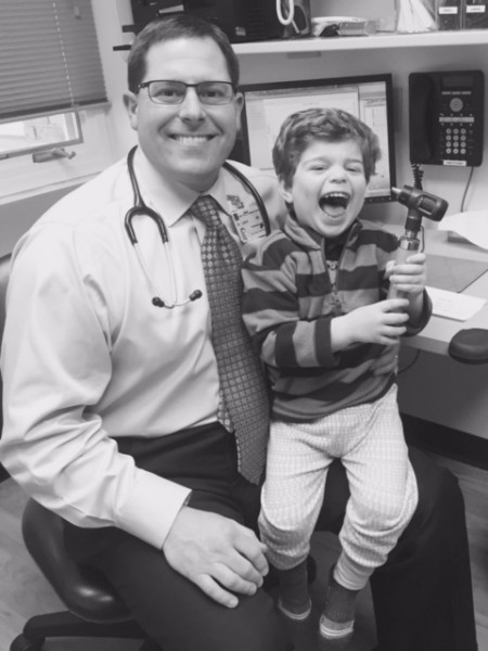 Eliot with his pediatrician