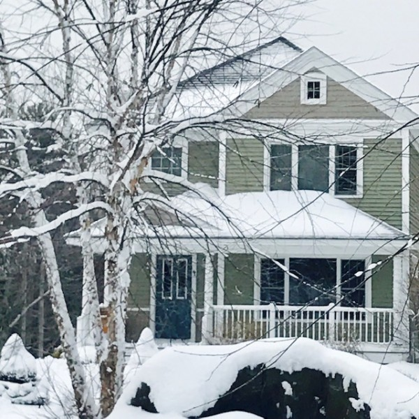 Our home in winter