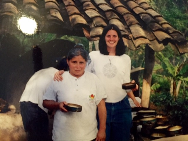 Christiani with friends during her Peace Corps service in Honduras