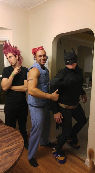 Brian, Josiah (his brother), and James (his good friend) at Halloween
