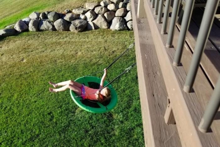 Backyard swingin'
