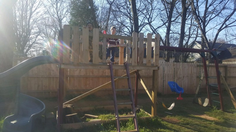 Our Back yard swingset