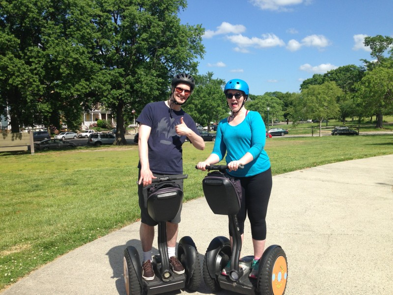 Meghan and Dave take a Segway Tour