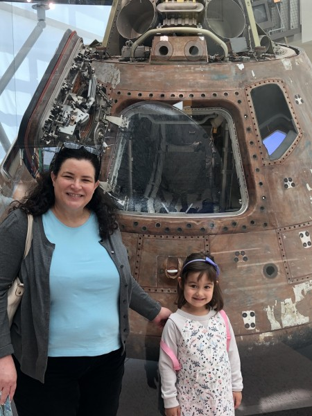 Visiting the Children's Science Center with Tia Ann. Ann is Luna's Godmother and is a scientist herself.