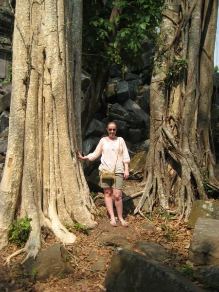 Sara visiting Cambodia