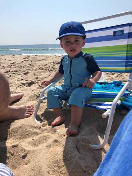 Mason at the beach in Long Island
