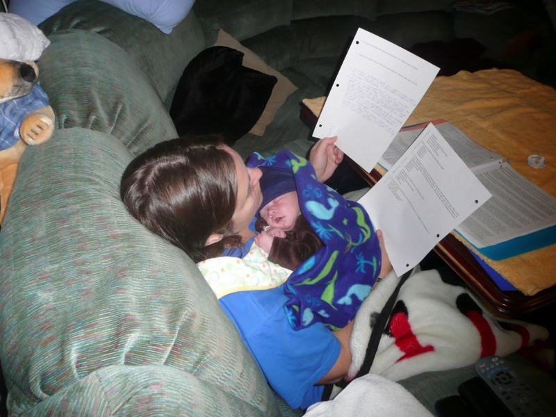 Helping mom study