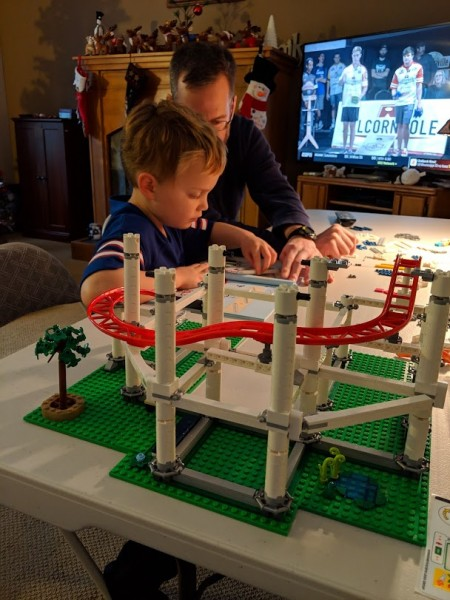 Family lego building