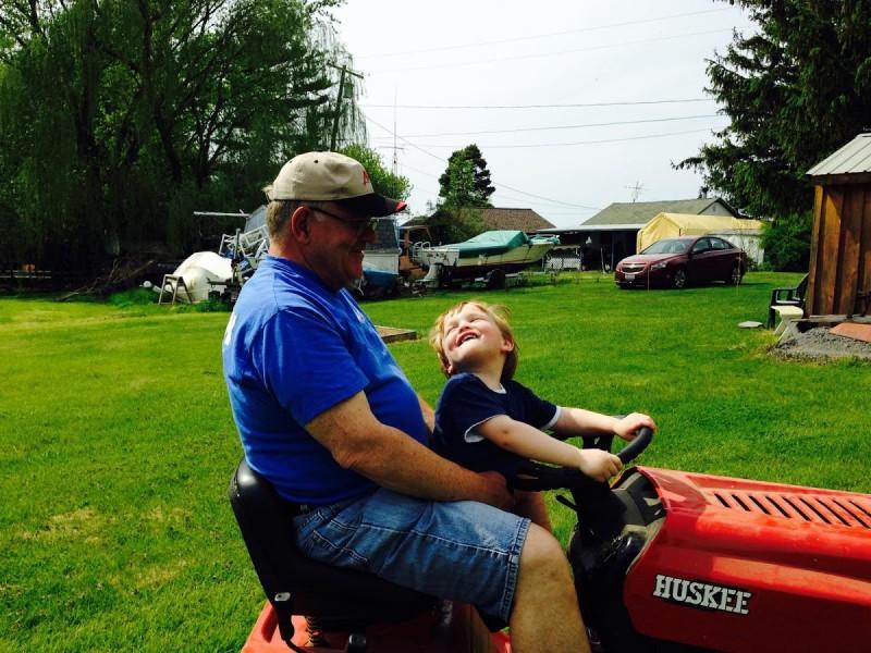 Love Grandpa's tractor