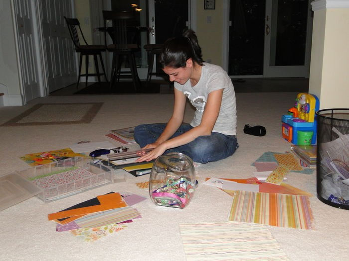 Scrapbooking memories is one of Michelle's favorite pastimes!