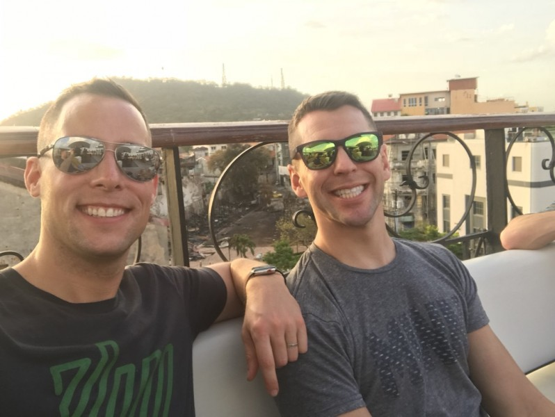 Enjoying a rooftop in Panama