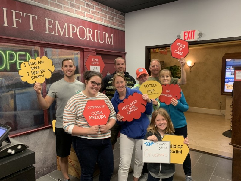 Escape Room with family in Florida. We made it out!!
