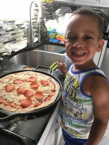 Homemade pizza and movie night!
