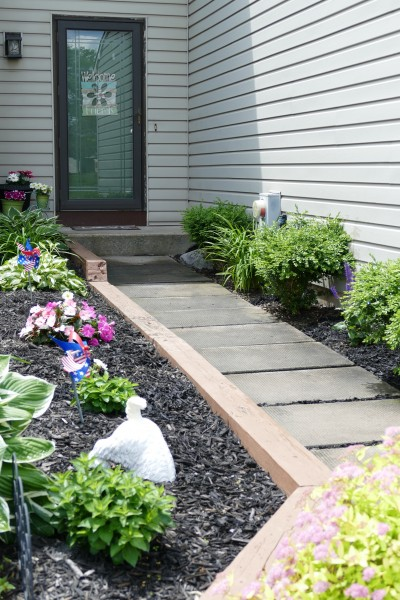 Michelle loves to decorate the front walkway for all the seasons!