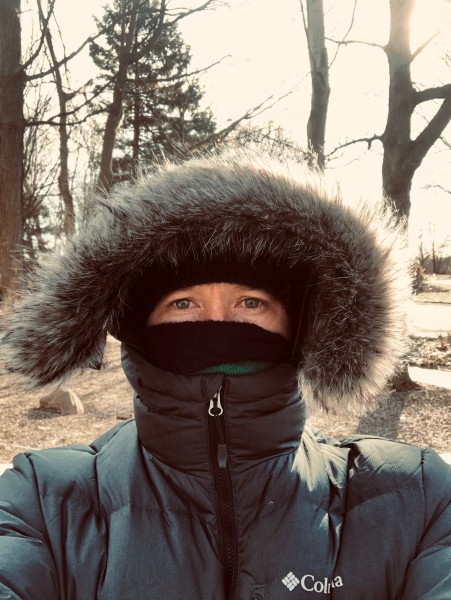 Daily walk. . .even in the POLAR VORTEX!