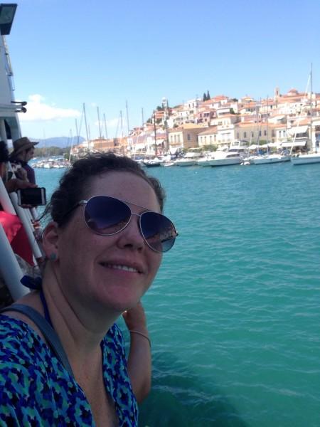Rachel enjoying the coast in Greece