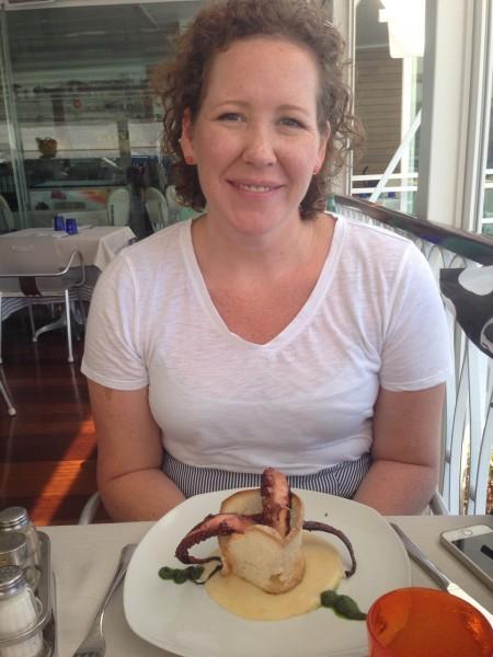 Enjoying lunch in Amalfi