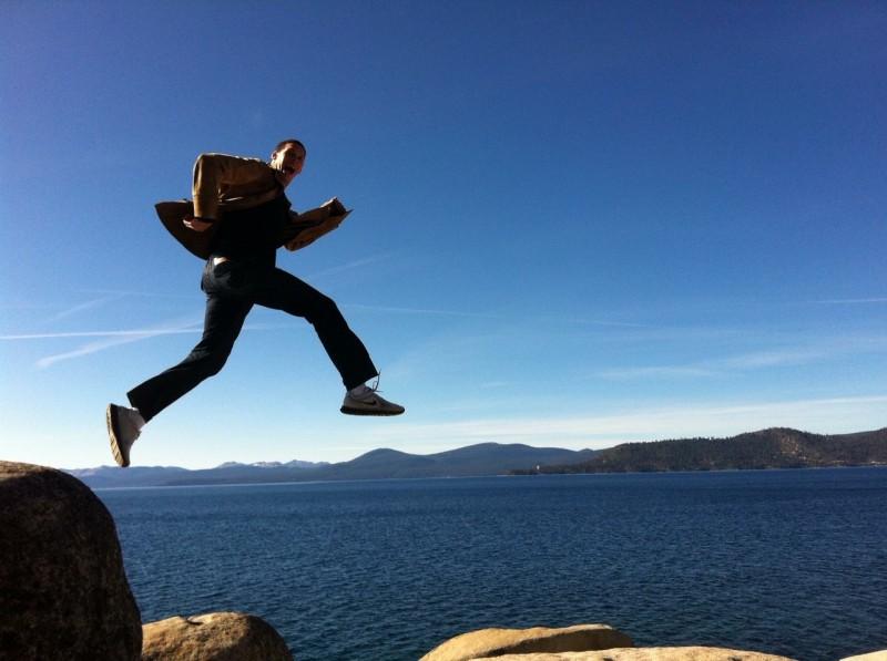 """Alex """"hiking"""" in Tahoe?"""