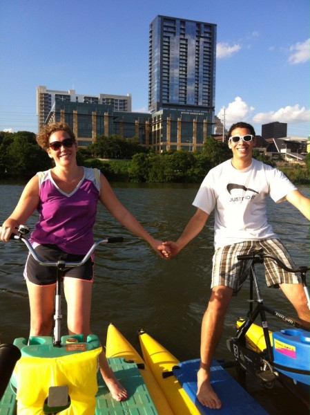 Peddle boats, just like paddle boats but more fun